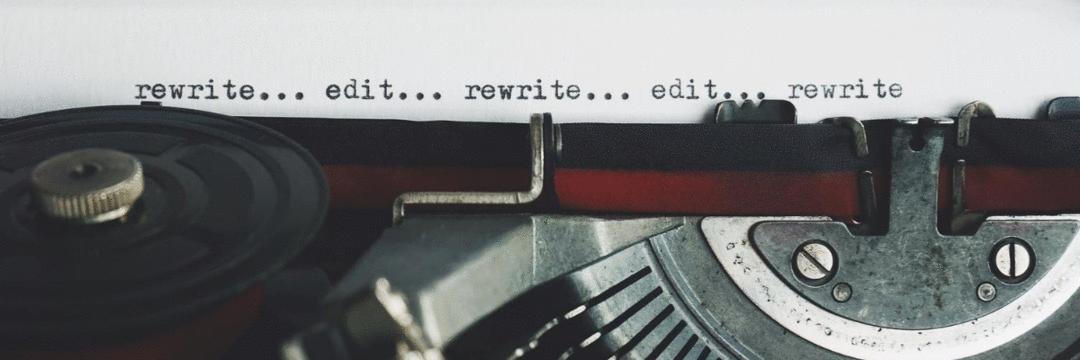 Reescreva sua história quantas vezes forem necessárias