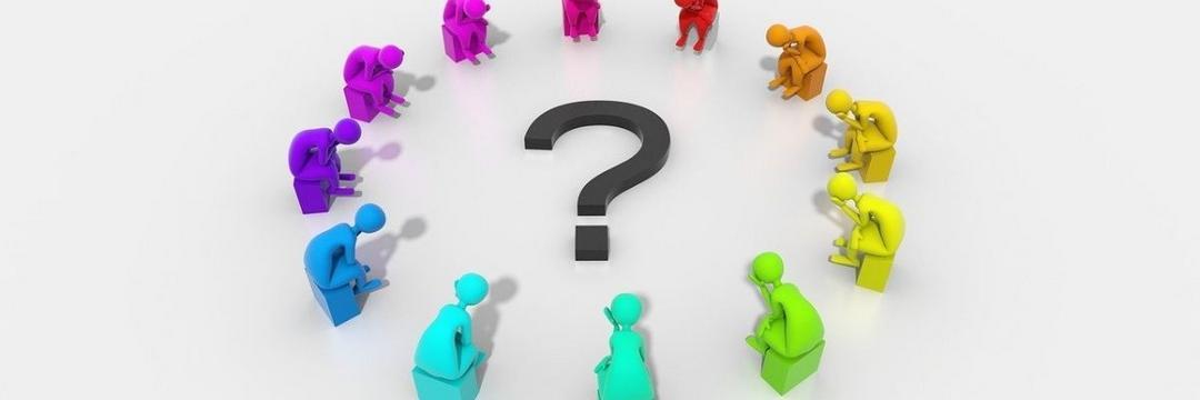 Procure primeiro as perguntas